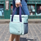 保冷袋 飯盒袋飯盒包手提包手拎女包帆布保溫袋子鋁箔加厚媽咪帶飯便當包 果果輕時尚