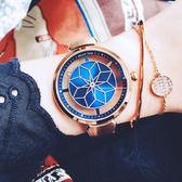 RELAX TIME RT63 綻放光彩女人腕錶-藍x玫塊金/36mm RT-63-6