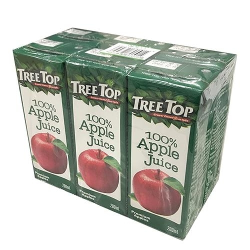 樹頂TreeTop100%蘋果汁200ml*6入【愛買】