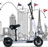 電動滑板車成人折疊代駕兩輪鋰電代步車迷你電動自行車10寸igo『韓女王』