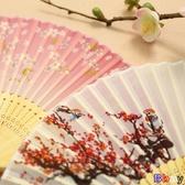 【貝貝】扇子 日式折扇 中國風 扇子 絹扇 和風 工藝 古風 折疊 舞蹈女扇