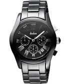 Diadem 黛亞登羅馬三眼計時陶瓷腕錶-黑 2D1407-521D-D