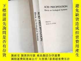 二手書博民逛書店ACID罕見Precipitation Effects on E