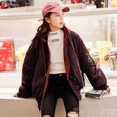 夾克外套 棉衣女飛行員夾克棉服秋冬季寬鬆棒球服加厚韓版原宿風bf雙面外套 DF 免運 維多