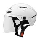 【東門城】ZEUS ZS126DC 素色(白) 半罩式雪帽 二分之一帽
