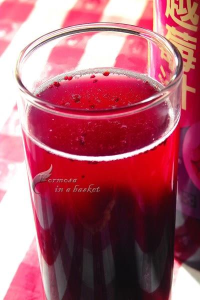 蔓越莓汁---南投縣埔里鎮農會(另有金桔汁、桑葚汁、百香果汁、桂花釀、玫瑰花釀等)
