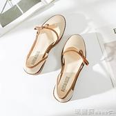娃娃鞋 溫柔風鞋子復古網紅鞋仙女的鞋中跟粗跟百搭單鞋夏季女鞋  瑪麗蘇