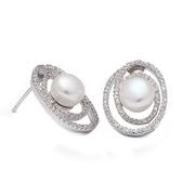 耳環 925純銀鑲鑽-氣質優雅生日情人節禮物女飾品73dm226【時尚巴黎】