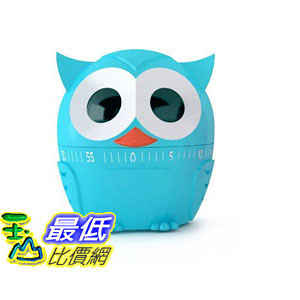 [104美國直購] Kikkerland 廚房定時器 B00E9M3BSI Owlet Kitchen Timer Assorted Colors $347