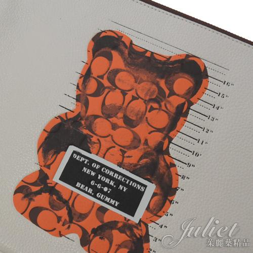 茱麗葉精品【全新現貨】COACH 77886 Vandal Gummy小熊聯名大手拿包.白