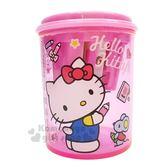 〔小禮堂〕Hello Kitty 圓型三孔削筆器《S.粉.拿筆.老鼠》 4713791-96360