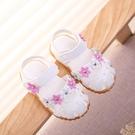 ★夏季女童涼鞋公主嬰兒學步鞋沙灘鞋包頭~...