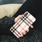 iPhoneX手機殼 可掛繩 大牌英倫風...