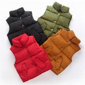 兒童背心 嬰兒秋冬季男童女童寶寶羽絨棉馬甲兒童立領背心加厚保暖外穿潮童