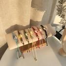 手鏈 ins小眾設計感情侶手鏈女手工編織繩紅繩招財貓咪手繩陶瓷手飾品【快速出貨八折鉅惠】