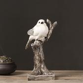 美式現代小鳥擺件