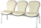 HP442-12 五人座排椅(米白皮)(葫蘆C)