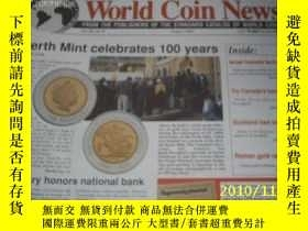 二手書博民逛書店World罕見Coin News(Vol.26,No.8)(Au