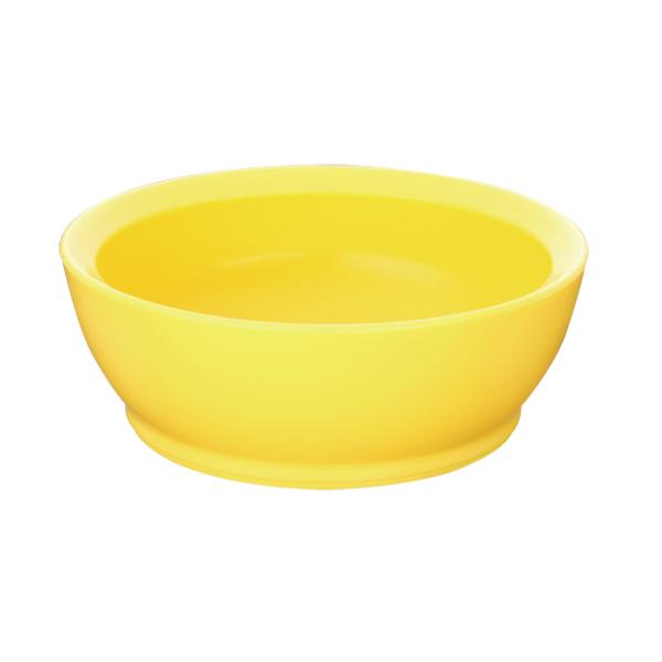 美國 Calibowl 專利防漏幼兒學習碗 12oz (單入無蓋)-黃色