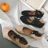 豆豆鞋韓版淑女單鞋2018春季社會平底女鞋奶奶百搭淺口學生豆豆鞋女 曼莎時尚