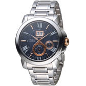 SEIKO精工 Premier 人動電能萬年曆腕錶 7D56-0AE0A SNP153J1