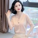 雪纺衫 短袖打底雪紡襯衫女裝夏裝2020年新款夏季百搭時尚洋氣氣質上衣服 快速出貨