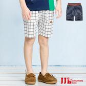 JJLKIDS 男童 小紳士經典格紋鬆緊休閒短褲(2色)
