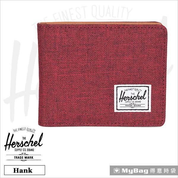 Herschel 皮夾 / 短夾 Hank-1158 酒紅色 經典內斂多卡短夾 MyBag得意時袋