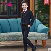 兒童小西裝套裝花童外套男孩禮服中大童韓版西服男童鋼琴演出服裝