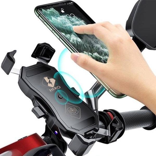 QC3.0 15W 無線充電機車手機支架 台灣現貨 外送員必備 防水 不鏽鋼 快充 無線充電X型手機車架