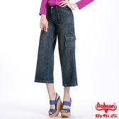 BOBSON 女款低腰粗結紗八分褲(111-53)