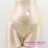 Chasney Beauty-Plume羽毛S-M蕾絲蝴蝶結丁褲(牙白)