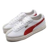 Puma 休閒鞋 Oslo-City PRM 白 紅 男鞋 女鞋 基本款 簡約 皮革 運動鞋 【ACS】 37480002