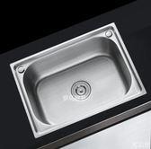 水槽單槽 洗菜盆不銹鋼加厚304大號小號單槽洗碗水池帶龍頭套餐  3C公社
