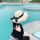 草帽女夏天沙灘帽海邊防曬小清新韓版遮臉出遊百搭太陽帽遮陽帽子 店慶降價