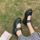 2020春季新款學生瑪麗珍鞋女淺口軟妹復古法式鬆糕厚底鞋JK小皮鞋 韓國時尚週