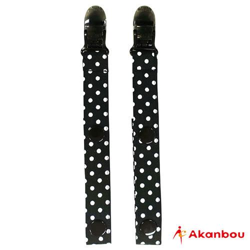 【奇買親子購物網】Akanbou 多用途扣帶夾2入組(小點黑)