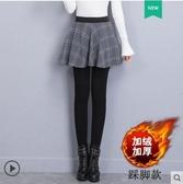 帶裙子秋冬加絨加厚假兩件打底褲女外穿踩腳顯瘦保暖包臀裙褲一體 韓國時尚週