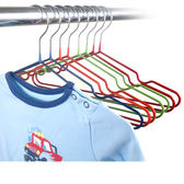 兒童衣架 【RPE005】10入組-兒童款防滑衣架_乾溼2用 123ok