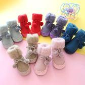 寶寶鞋襪 新款春秋卡通嬰兒鞋襪防滑皮底兒童地板襪毛圈保暖寶寶襪子0-3 快樂母嬰