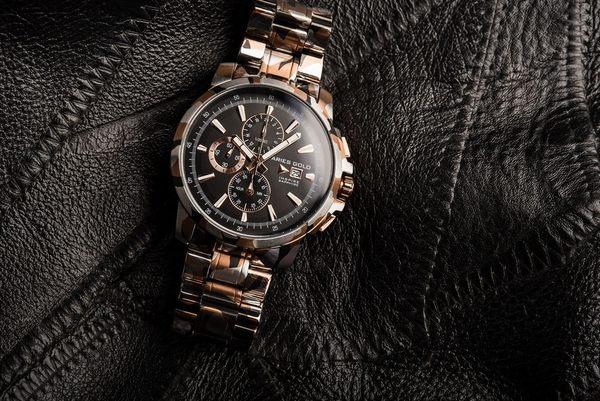 ★Aries Gold★-雅力士手錶-KENSINGTON-G 7301 CARG-BK-錶現精品公司-原廠公司貨