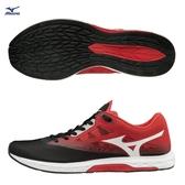 MIZUNO WAVE SONIC 2 男鞋 慢跑 路跑 馬拉松 輕量 避震 耐磨 黑 紅 【運動世界】U1GD193403