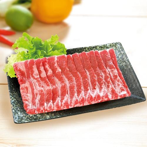 美國牛五花烤肉片1盒(500G/盒)【愛買冷凍】