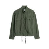 Gap女裝工裝風格拉鍊半高領外套541588-橄欖綠