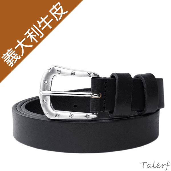TALERF細版淑女皮帶(黑色/共3色)-女 /真皮 牛皮/台灣製造