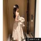 生日洋裝女氣質高腰顯瘦A型中長款溫柔抹胸吊帶仙女裙年會【全館免運】