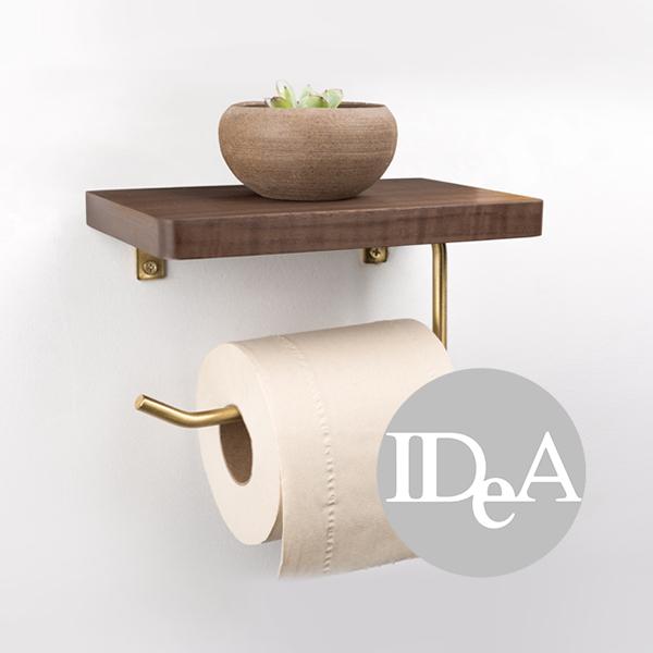 IDEA 壁掛式捲筒衛生紙架 免打孔 多功能 置物架 廁所 收納 居家生活