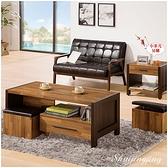 【水晶晶家具/傢俱首選】ZX1283-3巴菲特4呎木心板大茶几(附椅)~~小茶几另購