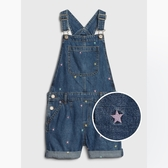 Gap女童甜美印花牛仔背帶短褲567950-彩色星星