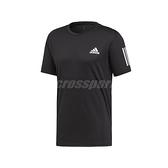 adidas 短袖T恤 Club 3 Stripes Tee 黑 白 男款 運動 網球 【ACS】 DU0859